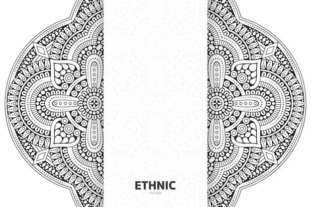 Patrón de ornamento de mandala. fondo de elementos decorativos vintage