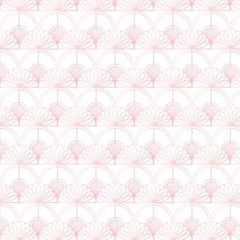 Patrón de oro rosa sobre fondo blanco.