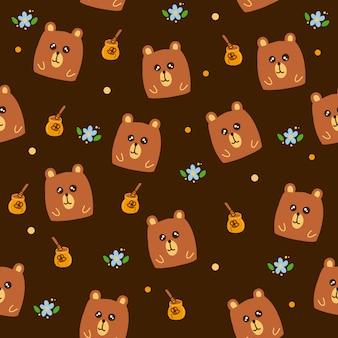 Patrón de oso lindo