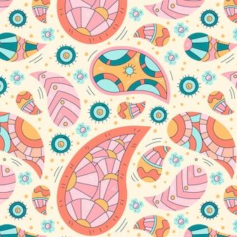Patrón de paisley bandana de color claro