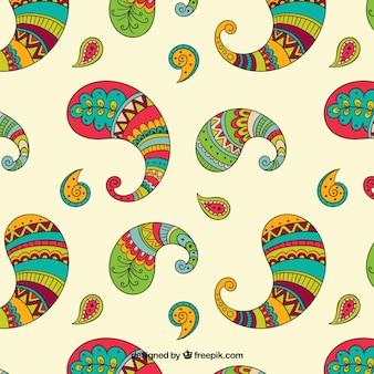 Patrón paisley colorido
