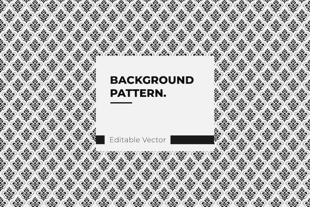Patrón paisley o damasco negro floral seamless pattern