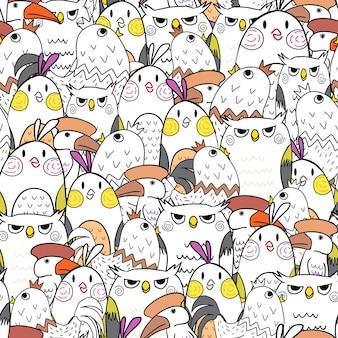 Patrón de pájaros sin costuras