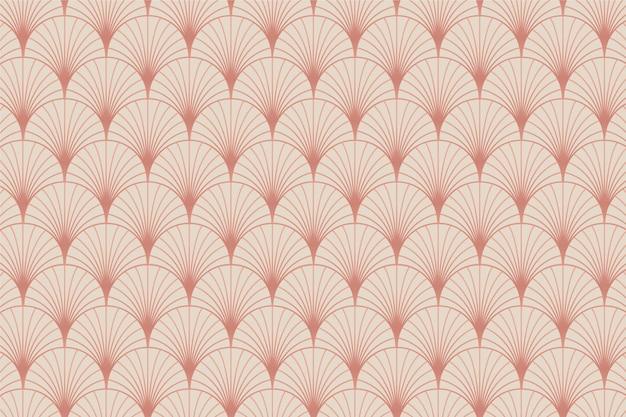 Patrón de palma art deco de oro rosa pastel