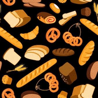 Patrón de pan fresco