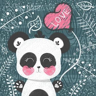 Patrón de panda lindo