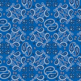 Patrón de pañuelo paisley azul