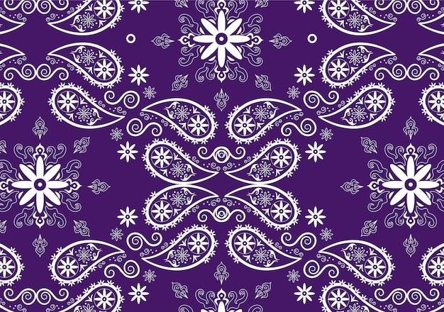 Patrón de pañuelo paisley morado