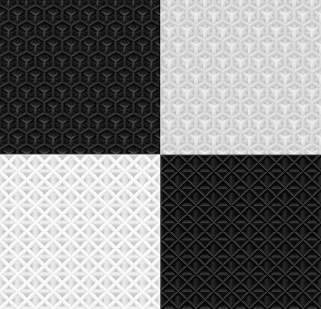 Patrón de papel geométrico volumétrico transparente