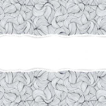 Patrón con papel rasgado
