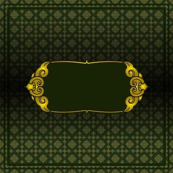 Patrón de papel tapiz estilo tailandés01