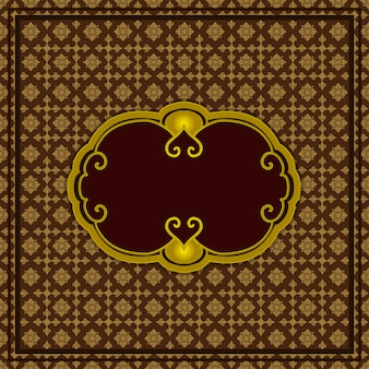 Patrón de papel tapiz estilo tailandés