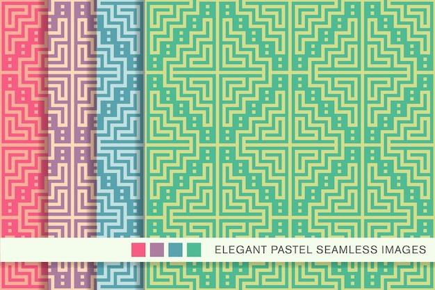 Patrón pastel transparente píxeles mosaico geometría cuadrada marco cruz