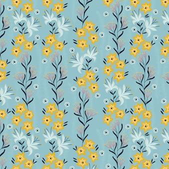 Patrón de pequeñas flores amarillas de primavera