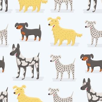 Patrón de perros animales divertidos