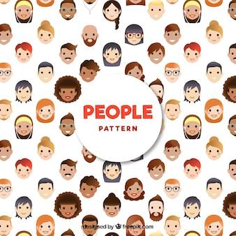 Patrón de personas con diseño plano
