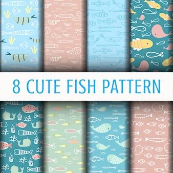 Patrón de pescado lindo
