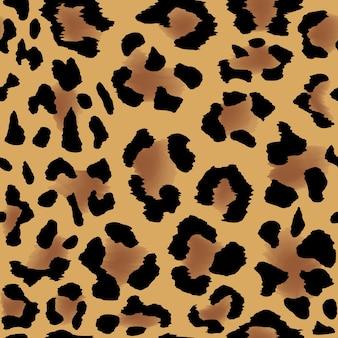 Patrón de piel de leopardo sin costuras para un fondo fresco