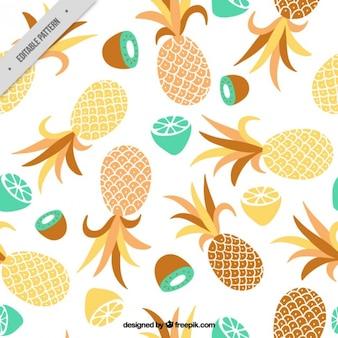 Patrón de piña y otras frutas