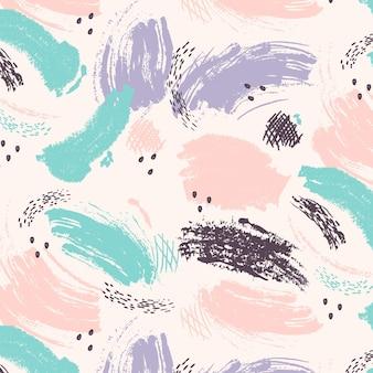 Patrón de pintura pastel de trazo de pincel abstracto