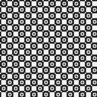 Patrón pixelado simple con formas geométricas monocromáticas. útil para el diseño textil e interior. estricto estilo neutral.