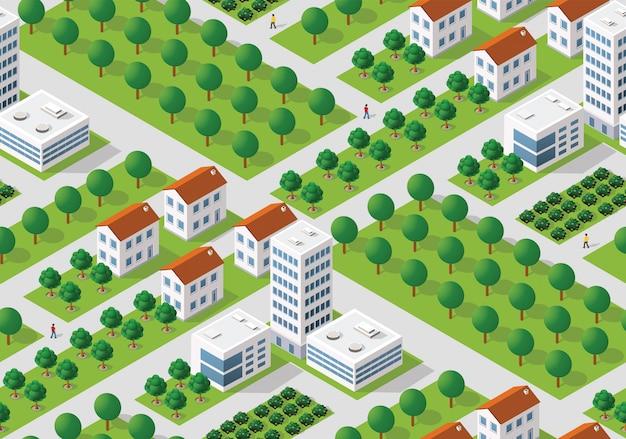 Patrón de plan urbano sin fisuras