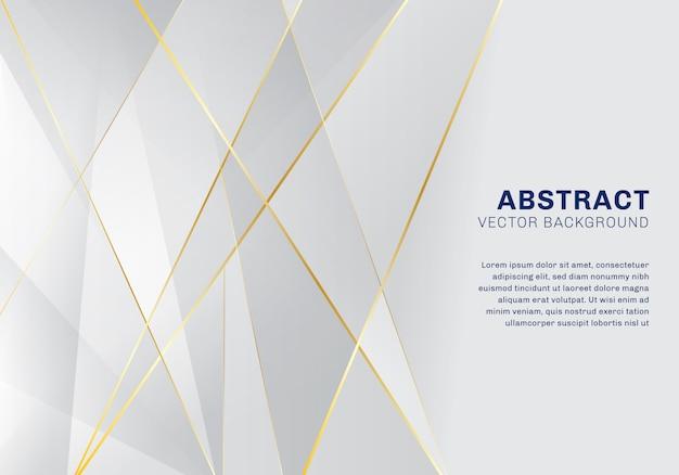 Patrón poligonal abstracto lujo blanco y fondo gris