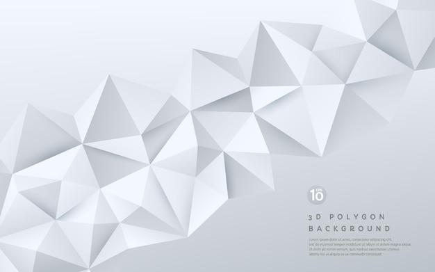 Patrón poligonal geométrico blanco y gris degradado 3d abstracto sobre fondo con espacio de copia