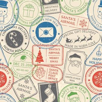 Patrón postal navideño