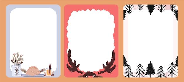 Patrón de postales lindo diseño de etiqueta