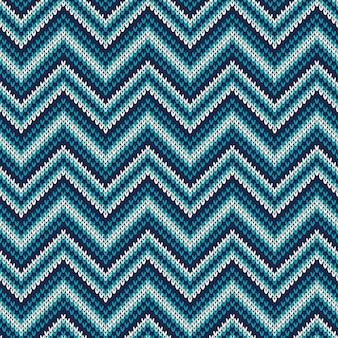 Patrón de punto de chevron abstracto tradicional de fair isle. adorno sin costuras para diseño de suéter