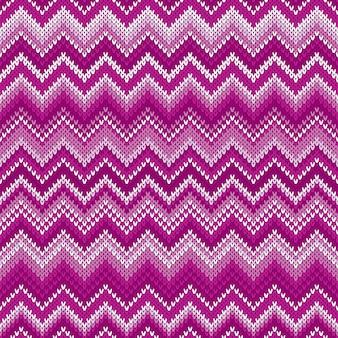 Patrón de punto de chevron abstracto tradicional de fair isle. adorno sin costuras para tejer el diseño de suéter