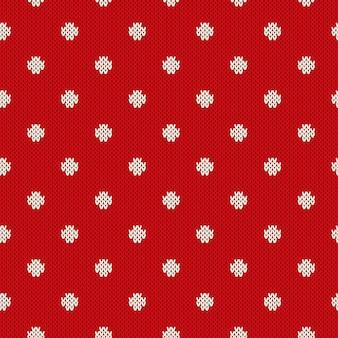 Patrón de punto sin costuras de lunares. diseño de suéter de punto de vacaciones de invierno