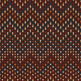 Patrón de punto multicolor sin costuras. zigzag geométrico.