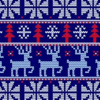 Patrón de punto de navidad