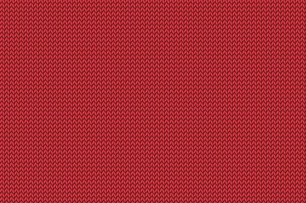 Patrón de punto rojo navideño. paño de lana.
