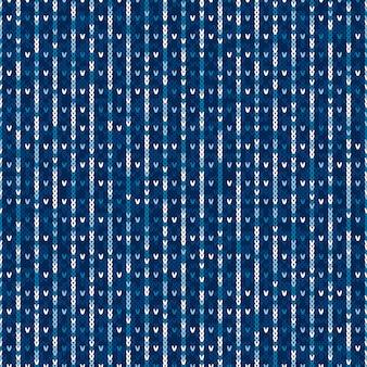 Patrón de punto suéter abstracto