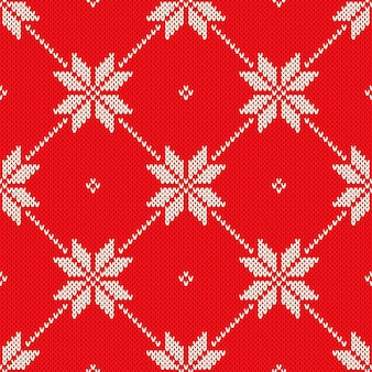Patrón de punto con temática navideña