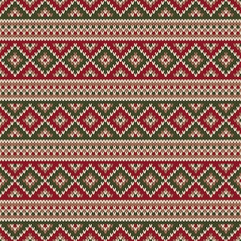 Patrón de punto tradicional estilo fair isle. diseño de suéter de navidad y año nuevo. fondo transparente de tejer vacaciones de invierno.