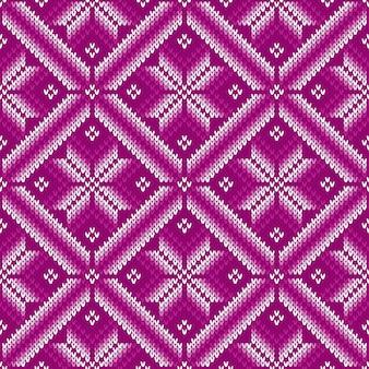 Patrón de punto tradicional de fair isle. diseño de suéter tejido sin costuras
