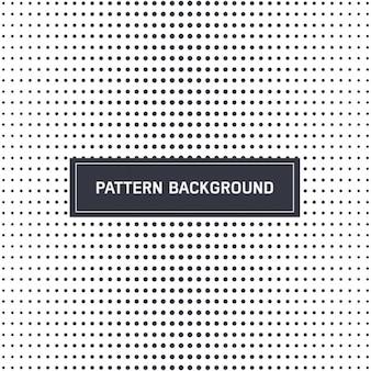 Patrón de puntos en blanco y negro