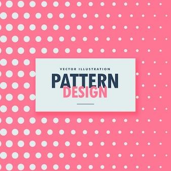 Patrón de puntos blancos sobre un fondo rosa