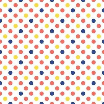 Patrón de puntos en color coral vivo. fondo geométrico abstracto. color del año 2019.ilustración de estilo lujoso y elegante.