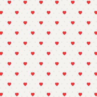Patrón con puntos y corazones