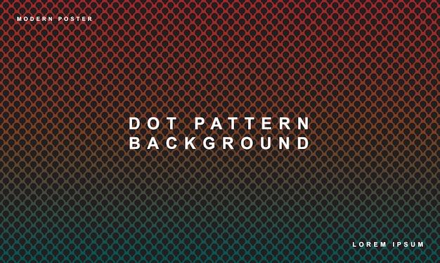Patrón de puntos fondo color degradado