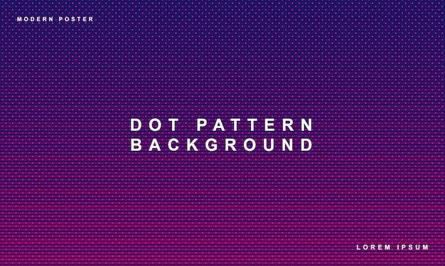 Patrón de puntos de fondo degradado de color púrpura