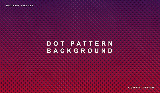 Patrón de puntos de fondo púrpura