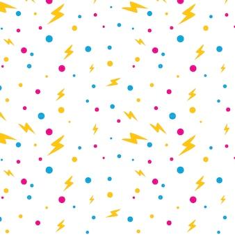 Patrón de puntos de rayos de energía para niños