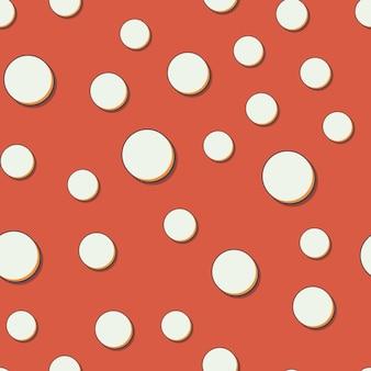 Patrón de puntos retro, fondo geométrico abstracto en estilo años 80, 90. ilustración simple geométrica