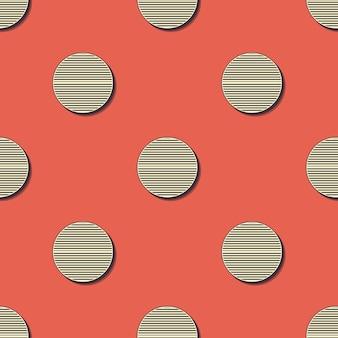 Patrón de puntos retro. fondo geométrico abstracto en imagen de estilo años 80, 90. ilustración simple geométrica